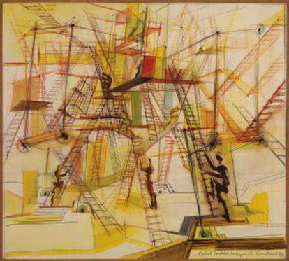 'Laberinto de escaleras móviles' (1967). Constant.