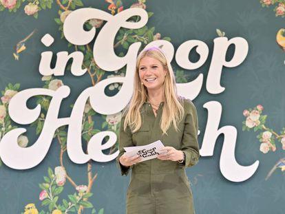 Gwyneth Paltrow como maestra de ceremonias en el evento 'In goop Health' celebrado en Los Ángeles en mayo de 2019. En vídeo, avance de la serie.
