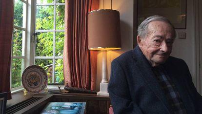 George Steiner en su casa de Cambridge en 2016.