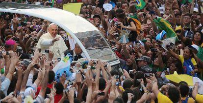 El Papa, el pasado año en la JMJ de Río de Janerio.