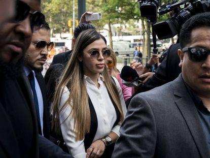 Emma Coronel Aispuro, esposa de Joaquín 'el Chapo' Guzmán, a su llegada a la Corte Federal en Nueva York, en una imagen de archivo.