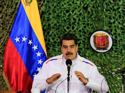 Nicolas Maduro, el 24 de julio en un acto público en Caracas.