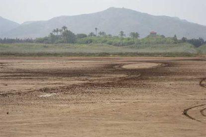 Terrenos de la finca Lo Poyo, donde está prevista una gran operación urbanística, en el Mar Menor (Murcia).