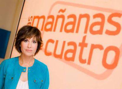 Concha García Campoy, en el plató de <i>Las mañanas de Cuatro.</i>