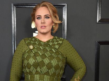 La cantante Adele, en Los Ángeles, en 2017.