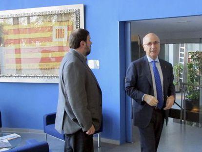 Duran y Junqueras, en la reunión que mantuvieron en diciembre 2013
