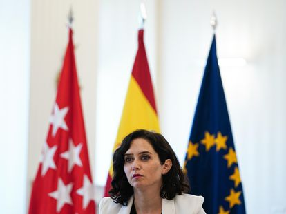 Isabel Díaz Ayuso, en un acto el miércoles.