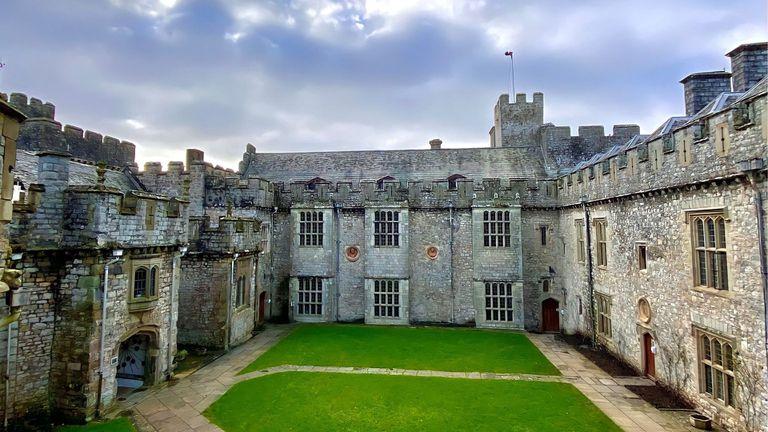 El United World College of the Atlantic en su sedel del castillo St Donat's, en Gales (Reino Unido).