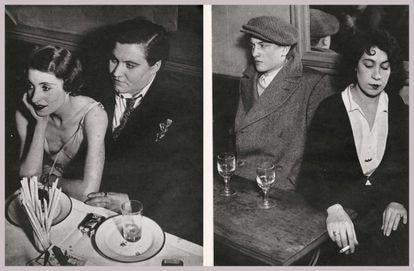 Doble página extraída de la revista 'NEUF' dedicada a Brassaï.