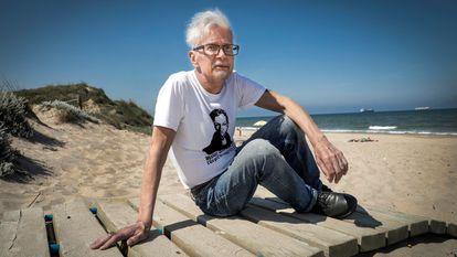 El escritor Eduard Limónov, protagonista de la novela de Emmanuel Carrère, en Valencia.