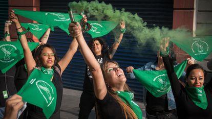 Una protesta a favor del aborto en Ciudad de México, en 2019.