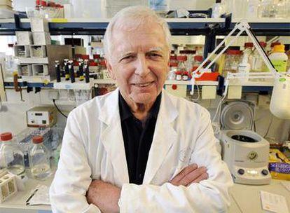 El científico alemán Harald zur Hausen, el pasado 6 de octubre, en su laboratorio de Heidelberg.