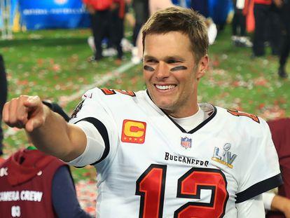 Tom Brady celebra el triunfo de Tampa Bay Buccaneers en la Super Bowl el pasado domingo.