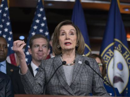 La líder demócrata Nancy Pelosi, el pasado viernes.