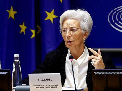 La presidenta del BCE, Christine Lagarde, en Bruselas, en febrero pasado. REUTERS/Francois Lenoir/File Photo