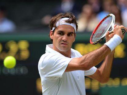 Federer, en su partido ante Youzhny.