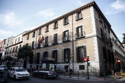 La fachada de la Escuela Superior de Canto de Madrid, en la calle San Bernardo 44.