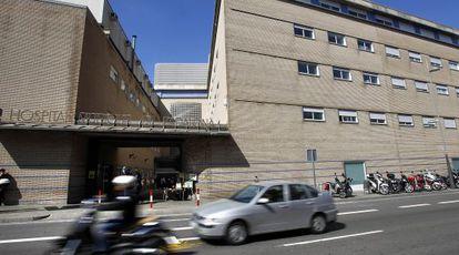 Imagen de la entrada del hospital municipal de Badalona.