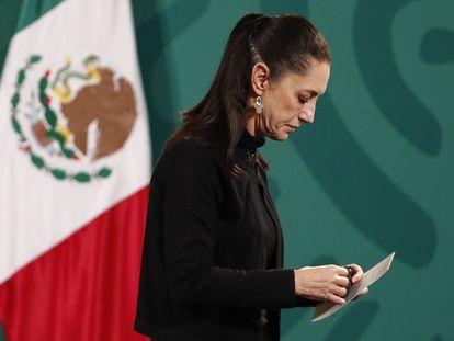 La jefa de Gobierno Claudia Sheinbaum durante una conferencia de prensa, el pasado 5 de mayo. En vídeo, así transcurrió la jornada.