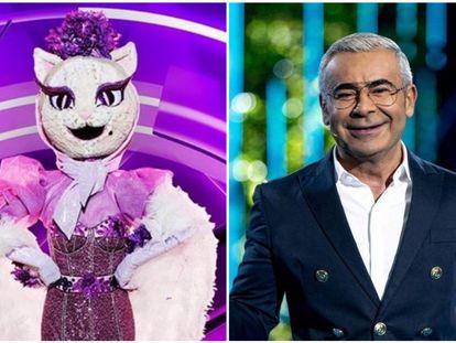 Gatita, una de las máscaras de 'Mask Singer', y Jorge Javier Vázquez, presentador de 'Supervivientes'.