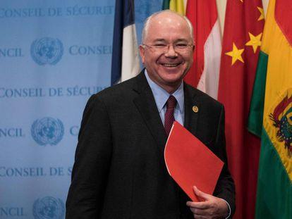 Rafael Ramírez, en Nueva York en noviembre de 2017 cuando era embajador de Venezuela ante la ONU.