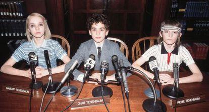Tres de los protagonistas de 'Los Tenenbaums. Una familia de genios', tratando de explicarse.