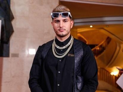 Omar Montes, en los premios Odeón, en Madrid, el pasado enero.