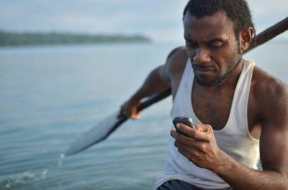 Un pescador en Malekula (Vanuatu).