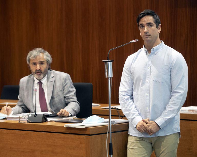Rodrigo Lanza declara este martes ante la juez en la segunda sesión del juicio del crimen de los tirantes en la Audiencia de Zaragoza.