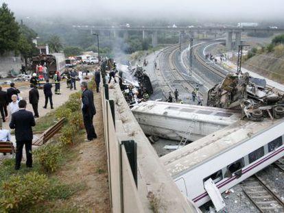 Accidente del Alvia, en julio de 2013.