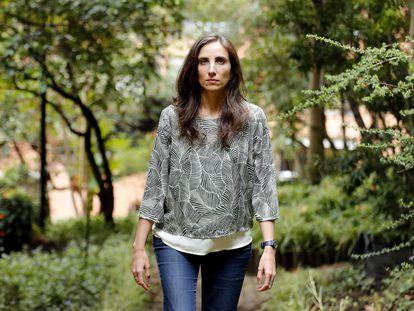 La periodista Catalina Lobo-Guerrero, el pasado 15 de abril en Bogotá, Colombia.