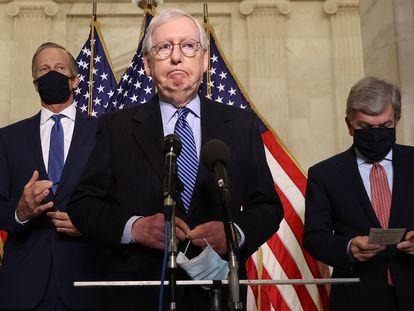 El líder de la minoría republicana en el Senado, Mitch McConnell.