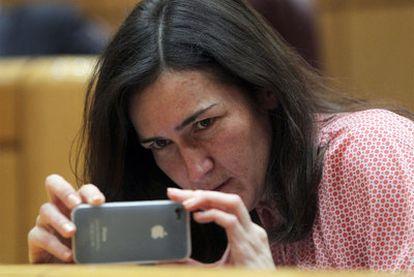La ministra de Cultura, Ángeles González-Sinde, la semana pasada en el Senado.