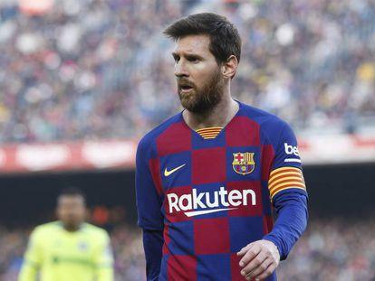 Leo Messi, en el partido contra el Getafe.