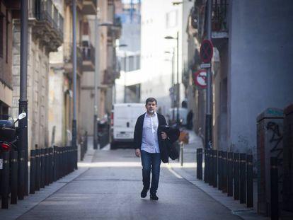 Jordi Sànchez, durante uno de sus permisos penitenciarios, en una imágen de archivo.