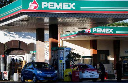 Estación de servicio Pemex en Ciudad de México.
