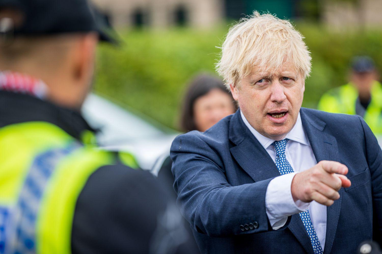Boris Johnson visita este martes un cuartel de policía en North Yorkshire (Reino Unido).