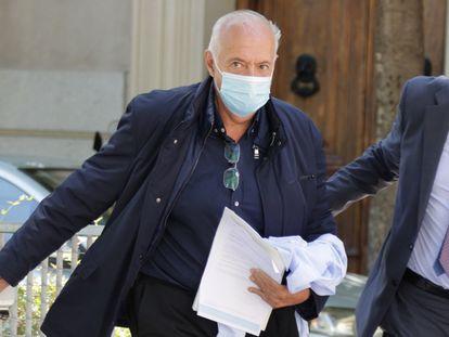 José Luis Moreno sale de la Audiencia Nacional tras prestar declaración como imputado el pasado 1 de julio.