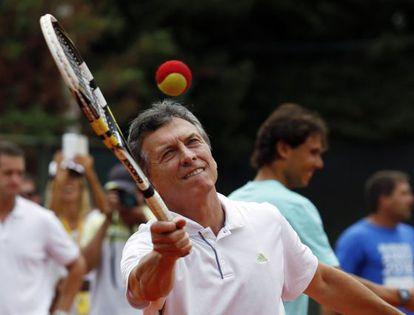 Mauricio Macri, alcalde de Buenos Aires, en un acto de campaña