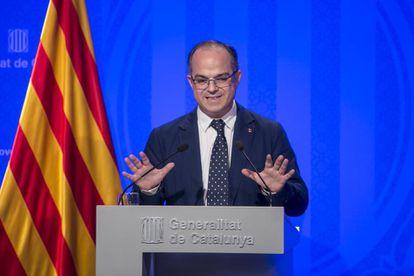 Jordi Turull tras la reunión del Govern.