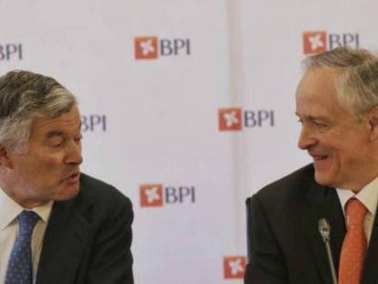 Pablo Forero, a la izquierda, con Fernando Ullrich, máximos ejecutivos del BPI.