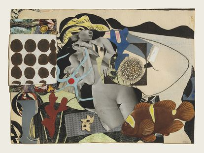 Paisaje Erótico, 1942 . Collage sobre papel.Eileen Agar/ Estate of Eileen Agar/ Bridgeman Images
