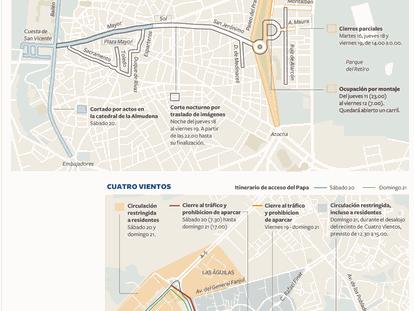 Durante una semana, dos de las principales arterias de la capital permanecerán completamente cerradas al tráfico.