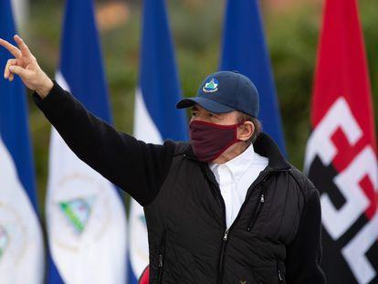 El presidente de Nicaragua, Daniel Ortega, durante las celebraciones del 41 aniversario de la revolución sandinista en Managua, Nicaragua, el pasado 19 de julio.