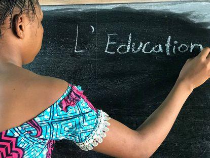 Una escuela en Kananga (República Democrática del Congo).
