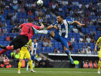 Borja Iglesias, el 25 de julio ante el Stjarnan.