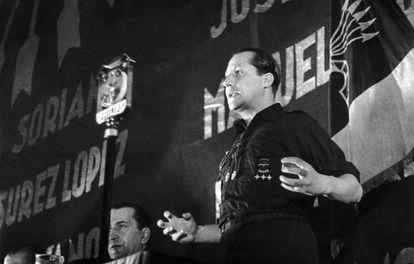 José Antonio Primo de Rivera, en el 2º Congreso de la Falange, en Madrid, el 8 de junio de 1935.