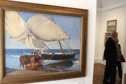 Vista de la obra 'Las velas' (1916), que se incluye en la exposición 'Sorolla. El color del mar'.