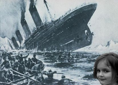 'Disaster Girl', frente al Titanic.