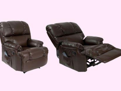 Este sillón relax de Cecotec está equipado con motores de masaje y función de calor.
